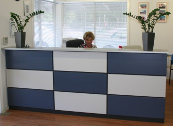 CHEQUER FRONT RECEPTION COUNTER