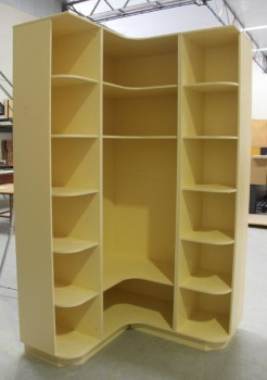 CUSTOM CORNER SHELVING UNIT