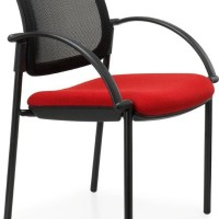 Venice Mesh Chair with arms black