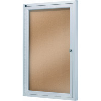 enclosed cork board 1 door