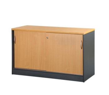 B Credenza with Sliding Doors