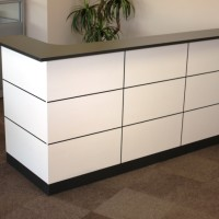 GROOVED CHEQUER FRONT RECEPTION COUNTER 1