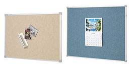Fabric Pinboard with aluminium frame