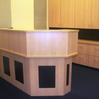 RECEPTION COUNTER WITH REBATED PANELS 1